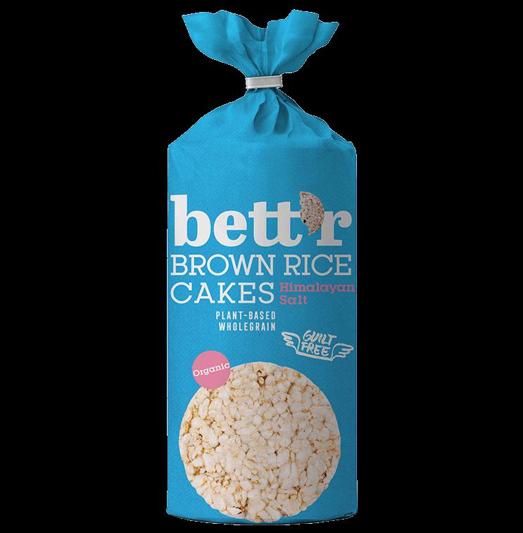 Brown rice cakes Himalayan salt