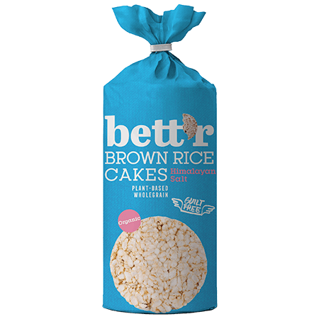 Brown rice cakes Himalayan salt