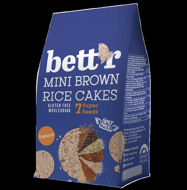 Mini brown rice cakes 7 Super Seeds